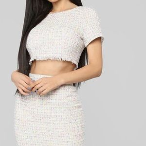 Fashion Nova Tweed Cropped Top